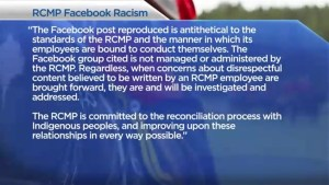 RCMP reeling after messages from a private Facebook group leaked
